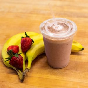 strawberry banana milkshakes