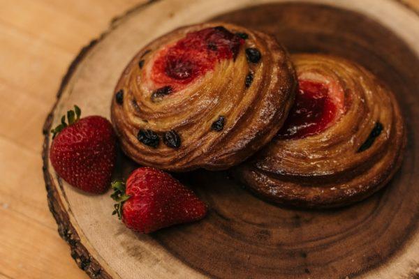 strawberry danish roll