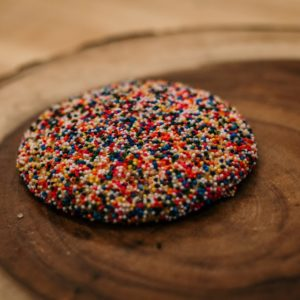 sprinkled polvoron cookie
